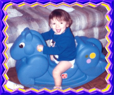 Noela on rocking horse